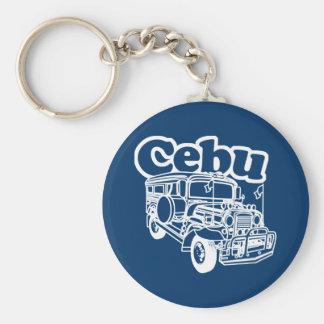 Cebu Jeepney Basic Round Button Keychain