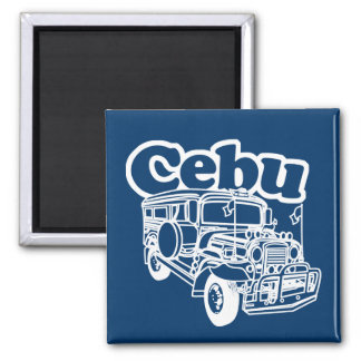Cebú Jeepney Imán Cuadrado