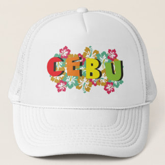 Cebu Philippines on Tropical Hibiscus Flowers Trucker Hat