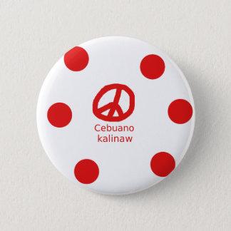 Cebuano Language And Peace Symbol Design Pinback Button
