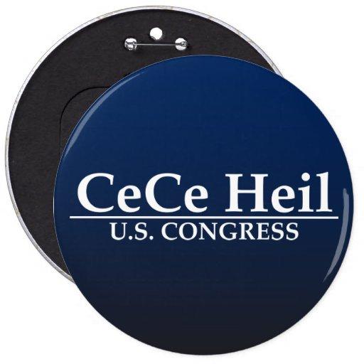 CeCe Heil U.S. Congress 6 Inch Round Button