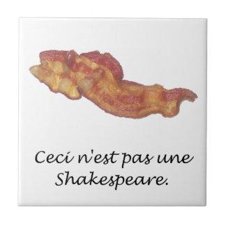 Ceci n'est pas une Shakespeare Ceramic Tile