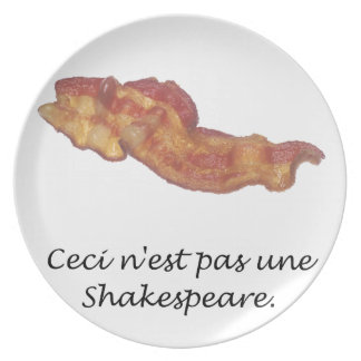 Ceci n'est pas une Shakespeare Dinner Plate