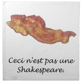 Ceci n'est pas une Shakespeare Printed Napkins