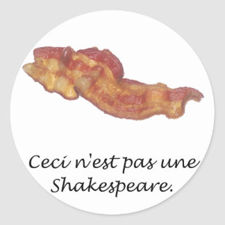 Ceci n'est pas une Shakespeare Sticker
