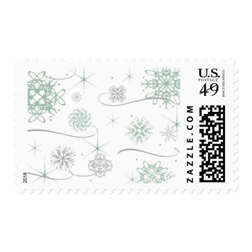 Ceci Snowflakes_Green by Ceci New York Stamp