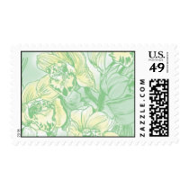 Ceci Watercolors - Soft Green Orchids Postage