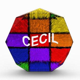 CECIL ACRYLIC AWARD