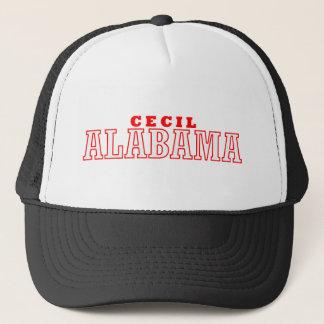 Cecil, Alabama City Design Trucker Hat