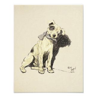 "Cecil Aldin 1902 ""Cute Terrier Dog"" Print Photo Print"