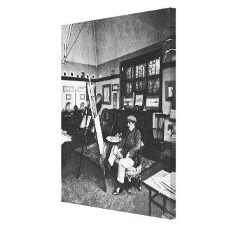 Cecil Aldin in his studio Canvas Prints