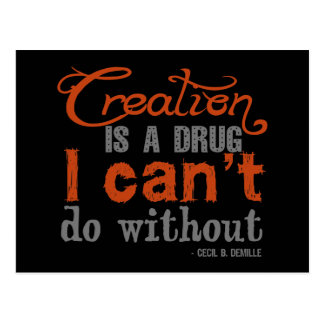 Cecil B. DeMille Creation Quote Post Card