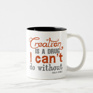 Cecil B. DeMille Creation Quote Two-Tone Coffee Mug