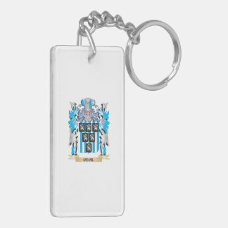 Cecil Coat of Arms - Family Crest Rectangular Acrylic Key Chain