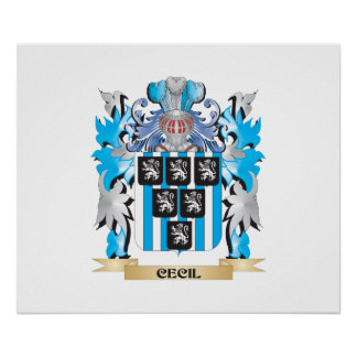 Cecil Coat of Arms - Family Crest Print