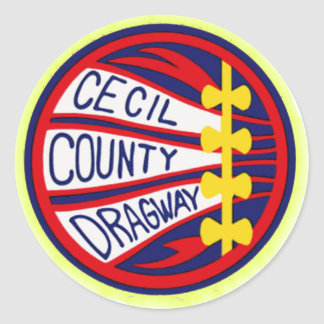 Cecil County Dragway copy Classic Round Sticker