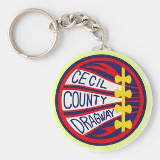 Cecil County Dragway copy Keychain