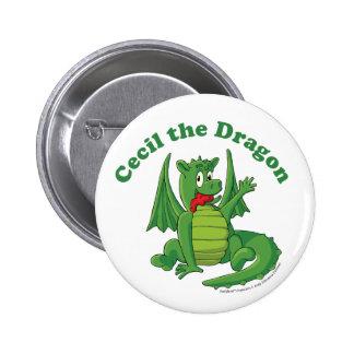 Cecil el botón del dragón pins
