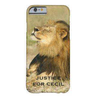 Cecil el león matado en la justicia de África Funda Barely There iPhone 6