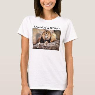 Cecil el león no soy un trofeo playera