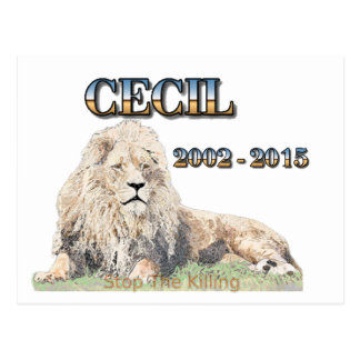 Cecil el león postales
