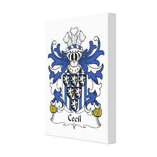 Cecil Family Crest Gallery Wrap Canvas