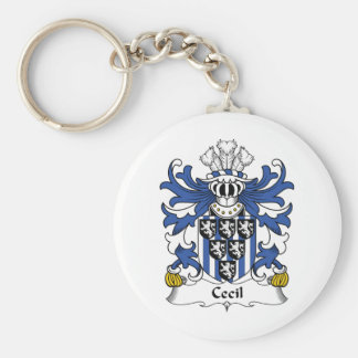Cecil Family Crest Key Chain