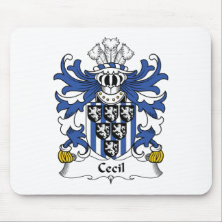 Cecil Family Crest Mouse Pad