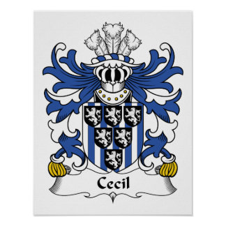 Cecil Family Crest Poster