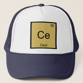 Cecil Name Chemistry Element Periodic Table Trucker Hat