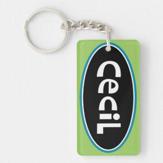 Cecil Personalized Keychain