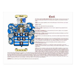 Cecil (significado) tarjeta postal