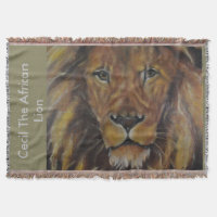 Cecil The African Lion Throw Blanket
