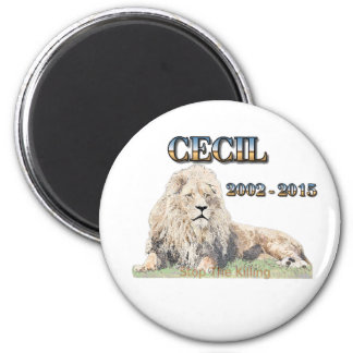 Cecil The Lion 2 Inch Round Magnet