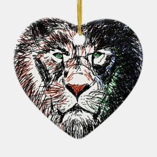 Cecil the lion ceramic ornament