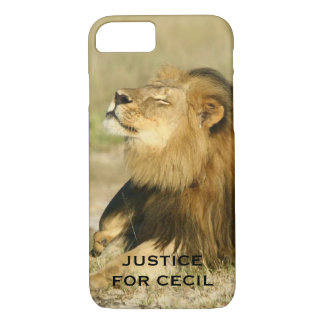 Cecil the Lion Killed in Africa Justice iPhone 8/7 Case