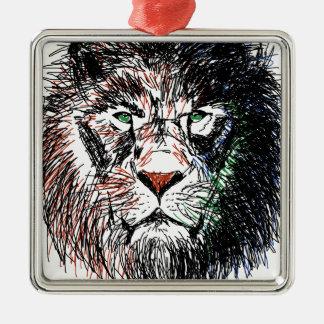 Cecil the lion metal ornament