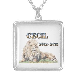 Cecil The Lion Square Pendant Necklace