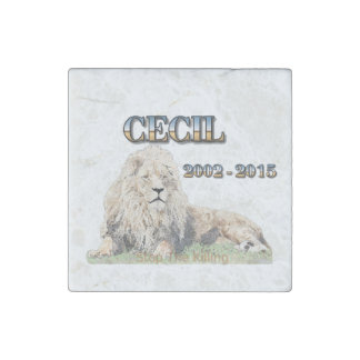 Cecil The Lion Stone Magnet