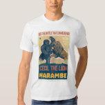 Cecil The Lion VS Harambe The Gorilla Movie Tee Shirt