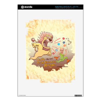 Cecil the Lion's Social Networks Revenge Decals For iPad 3