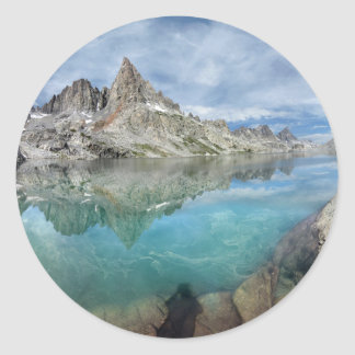 Cecile Lake / Minarets - Ansel Adams Wilderness Classic Round Sticker