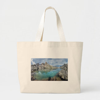 Cecile Lake / Minarets - Ansel Adams Wilderness Large Tote Bag