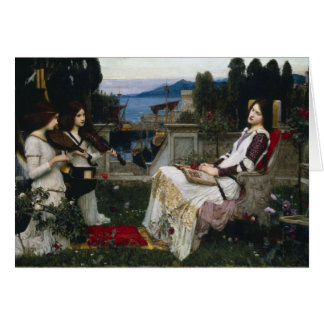 Cecilia by John William Waterhouse Greeting Card