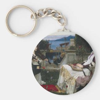 Cecilia by John William Waterhouse Key Chains