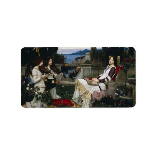 Cecilia by John William Waterhouse Address Label