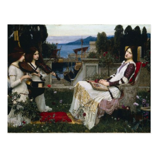 Cecilia by John William Waterhouse Postcard