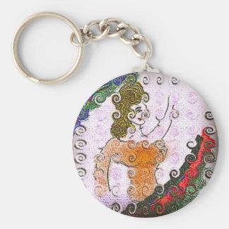 Cecilia Basic Round Button Keychain