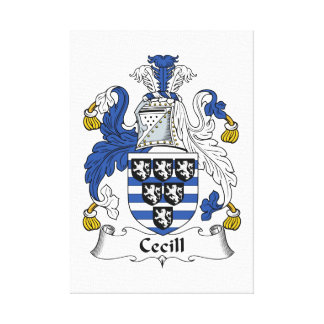 Cecill Family Crest Gallery Wrap Canvas