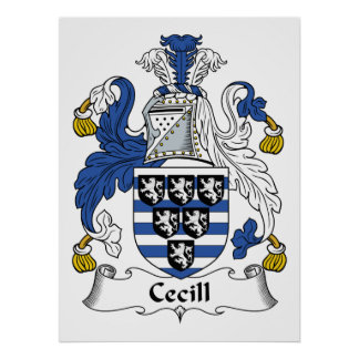 Cecill Family Crest Posters